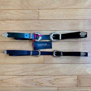 Double buckle belts